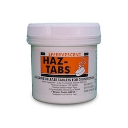 Guest Medical Haz-Tabs 2.5g NaDCC Effervescent Disinfection Tablets